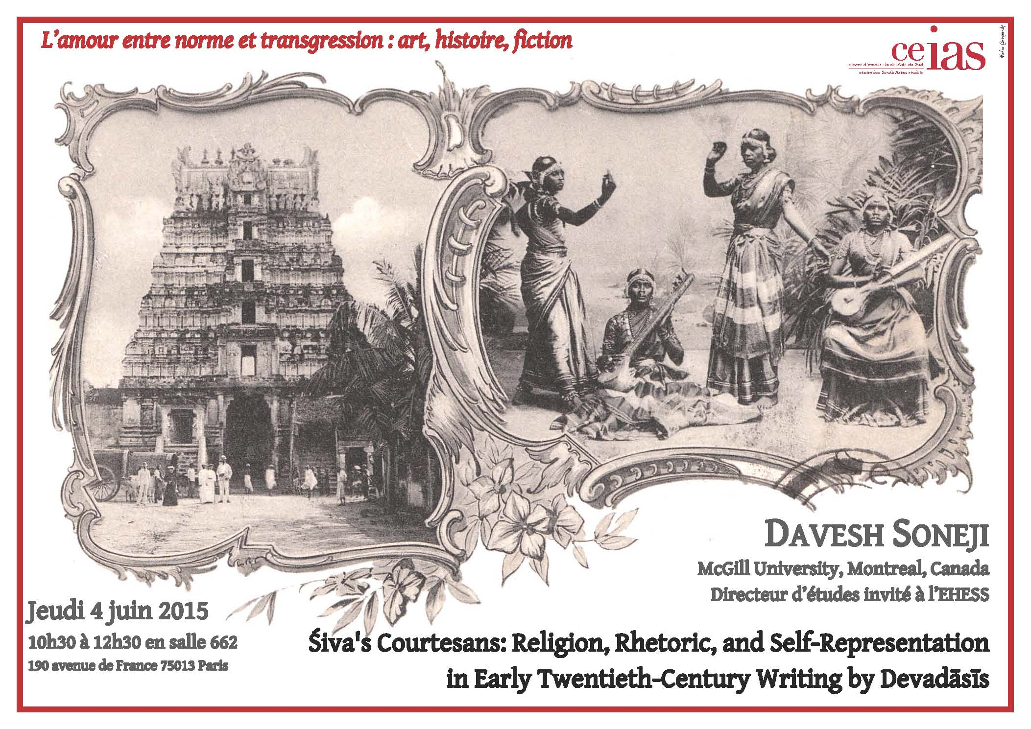 Śiva's Courtesans: Religion, Rhetoric, and Self-Representation  in Early Twentieth-Century Writing by Devadāsīs