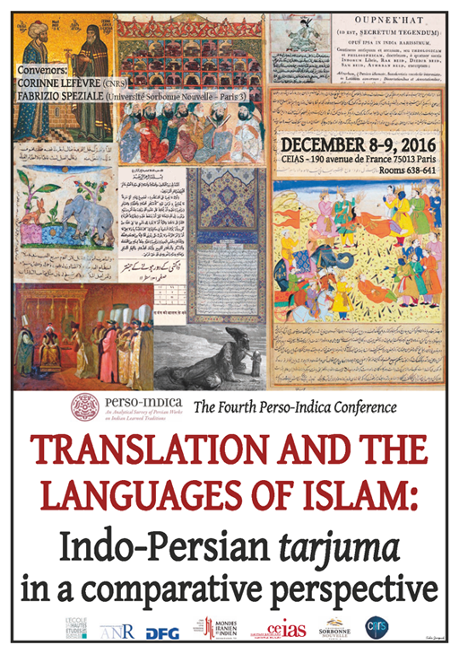 Translation and the languages of Islam: Indo-Persian <em>tarjuma</em> in a comparative perspective