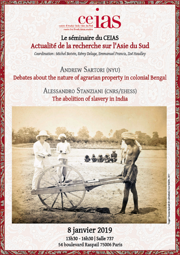 Debates about the nature of agrarian property in colonial Bengal / The abolition of slavery in India
