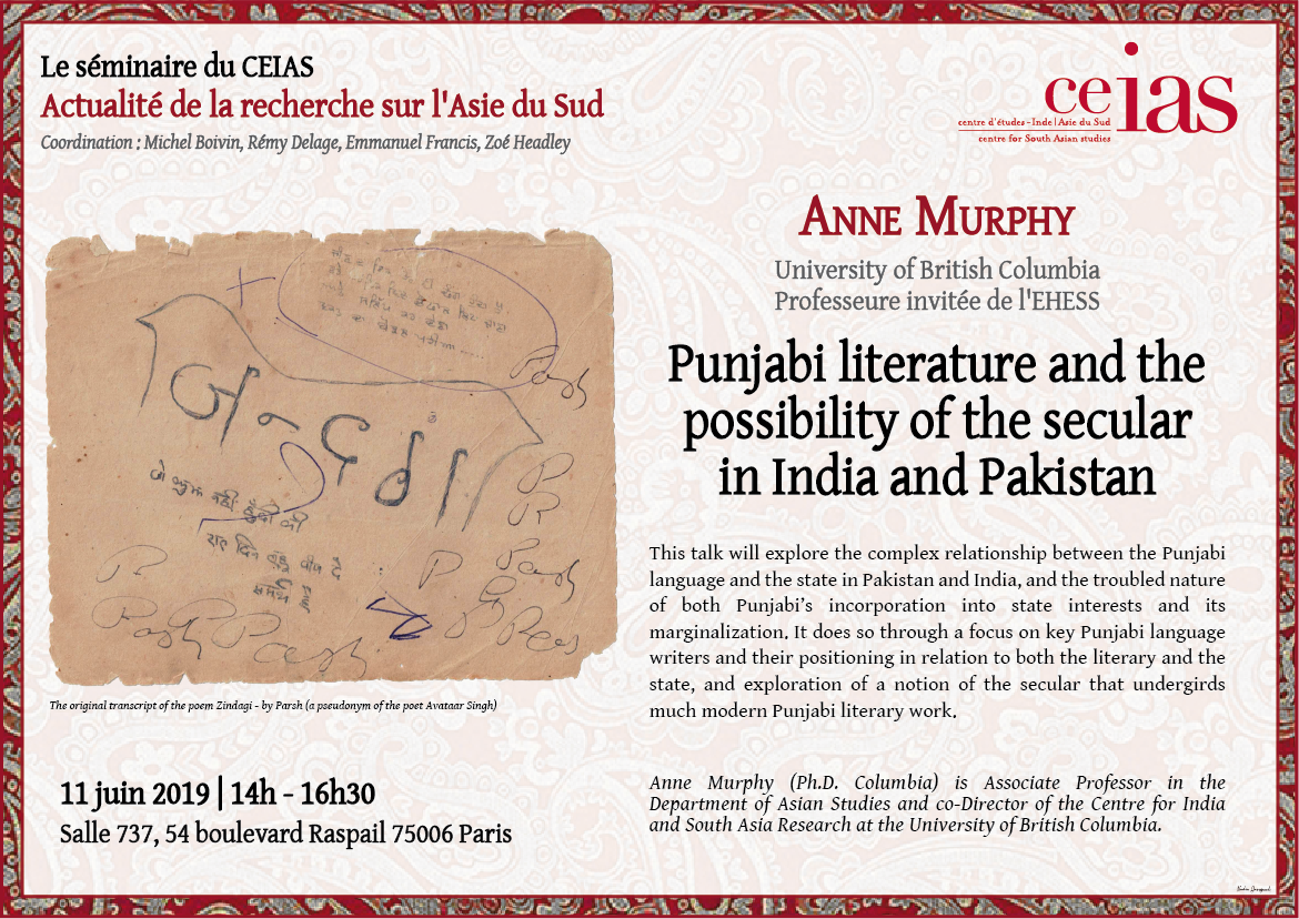 Punjabi literature and the possibility of the secular in India and Pakistan