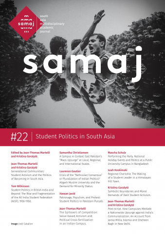 Student Politics in South Asia